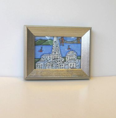 Custom Made San Francisco Acrylic Landscape Painting
