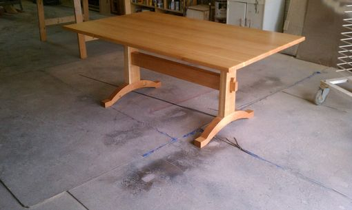 Custom Made Cherry Trestle Table