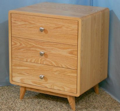 Custom Made 3 Drawer Danish Modern Nightstand (Item # 3d616)