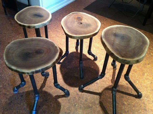 Handmade Live Edge Barstools By Live Edge Woodcrafts