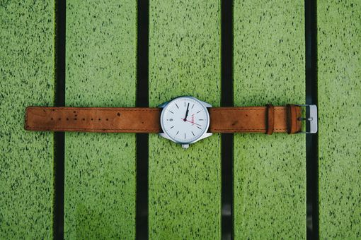 Custom Made Tan And Silver Minimalist Watch By Vierra Watches (Lifetime Warranty)