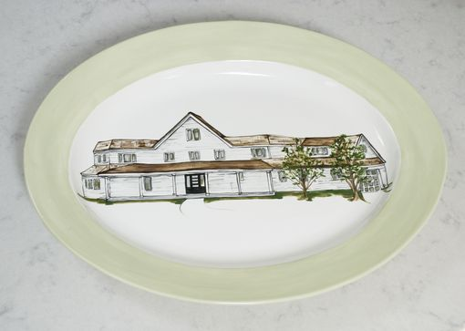 Custom Made Home Sweet Home House Portrait Platter