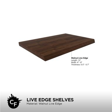 Custom Made Live Edge Shelves (Pack Of 3)