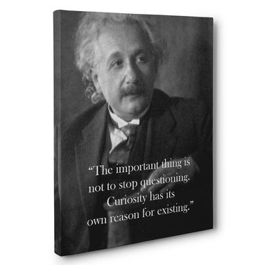 Custom Made Albert Einstein Curiosity Motivation Quote Canvas Wall Art