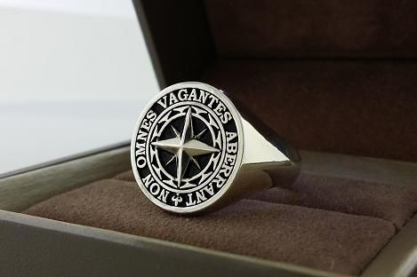 Custom Made Signet Ring Mens Ring
