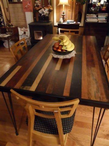 handmade dining table made from barn sidingboston handyworks