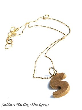 Custom Made Letter, Alphabet Jewelry Necklaces