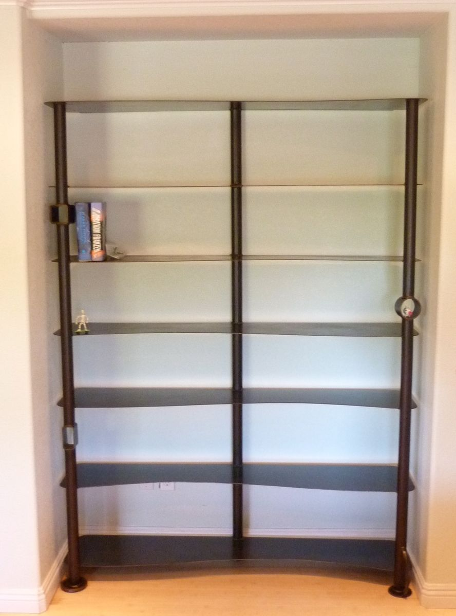 custom made custom salvaged steel bookshelves - Steel Bookshelves