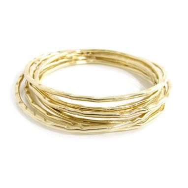 Custom Made Hammered Bangles - Stacking Bangles Set