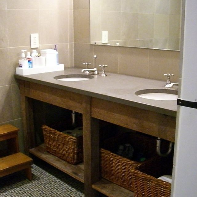 Hand Crafted Custom Bathroom Vanities All Using Recliamed Lumber By