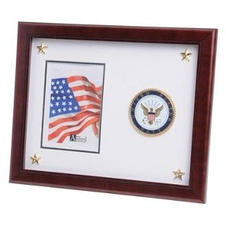 Custom Made U.S. Navy Medallion Picture Frame With Stars