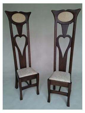 Custom Made Bride And Groom Dining Chairs