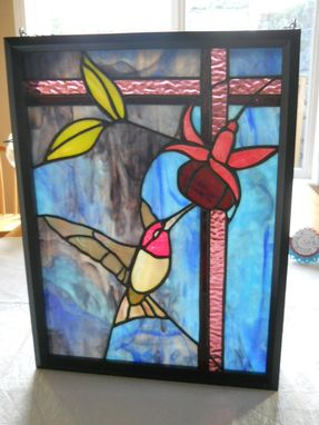 Custom Made Stained Glass Framed Hanging