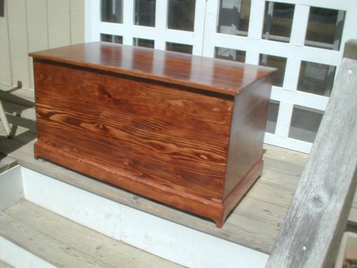 Custom Made Upcycled Blanket Chest