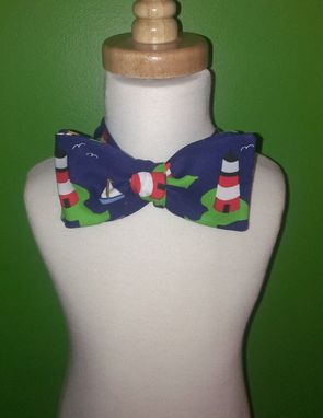 Custom Made Lighthouse Self-Tie Bow Tie