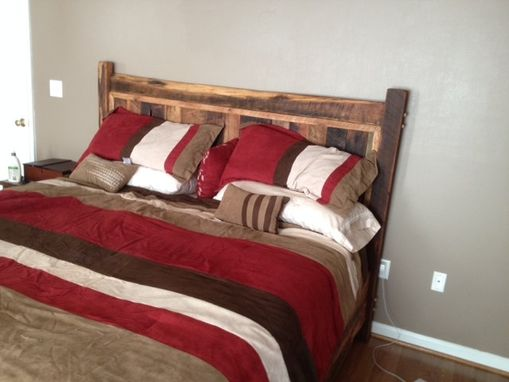 Custom Made Reclaimed Oak Bed Frame, Cabin Comfort