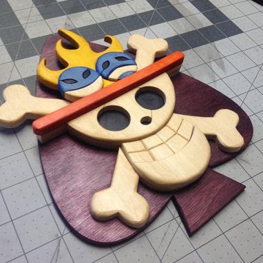 Custom Made Wooden One Piece Spades Jolly Roger