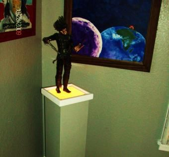 Custom Made Lighted Art Stand