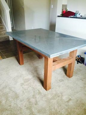 Custom Made Cedar Wood Farm Table