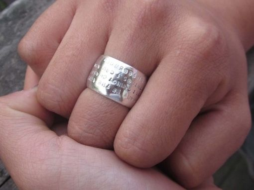 Custom Made Wide Hand-Stamped Dome Ring