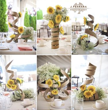 Custom Made Spiral Wood Centerpieces