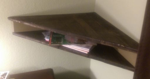 Custom Made Corner Shelf Made From Reclaimed Pallet Wood And Plywood