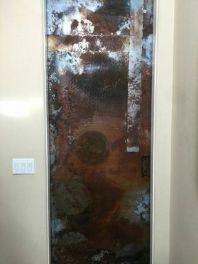 Custom Made Sliding Metal Barn Door