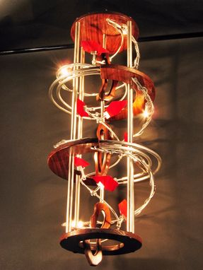 Custom Made Custom Industrial Contemporary Eclectic Sculpture Art Chandelier Light Design