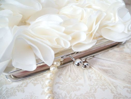 Custom Made Pale Ivory Avant-Garde Bridal Clutch Purse