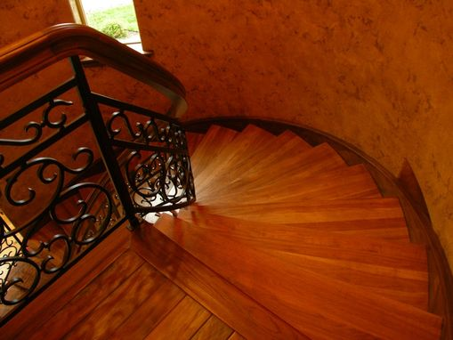 Custom Made Alder And Steel Stair With Walnut Treads