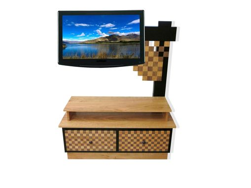 "Custom Made ""Checkers"" Tv Stand."