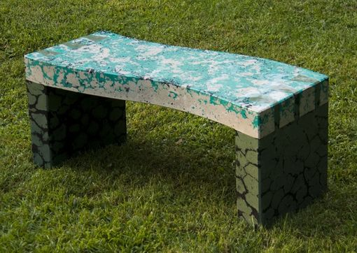 Custom Made Dovetail Bench In Concrete