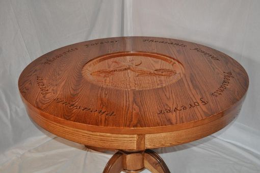 Custom Made Poker Table With Removable Carved Top