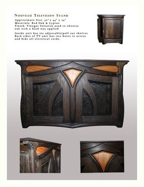 Custom Made Art Nouveau Television Stand