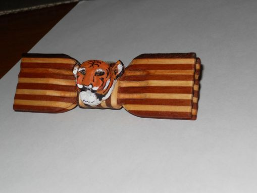 Custom Made Bow Tie - The Princeton Tiger In Wood