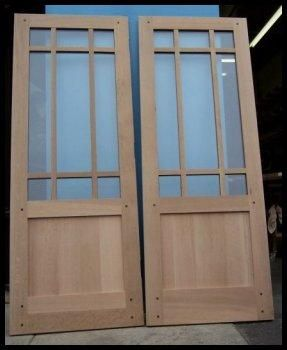 Custom Made Craftsman Style Interior French And Glazed Doors