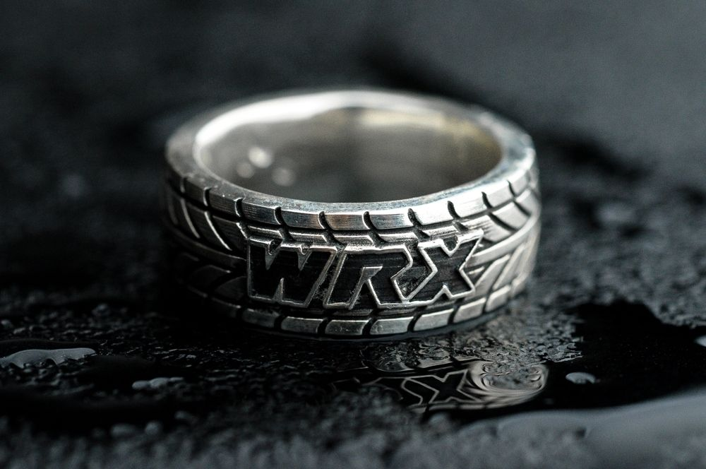 wrx tire tread ring customizable by alex and jackie kaufman - Mud Tire Wedding Rings