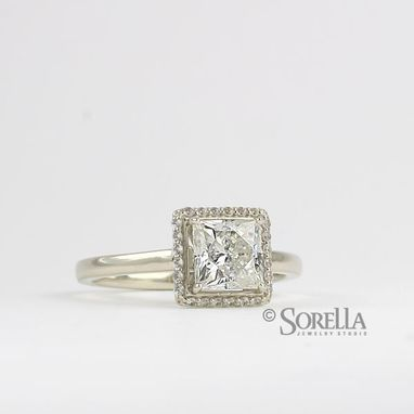 Custom Made Custom Engagement Ring With Moissanite