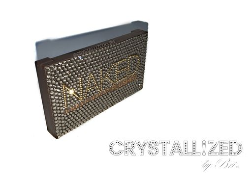 Custom Made Crystallized Urban Decay Naked Contouring Palette Bling Makeup Swarovski Crystals Bedazled