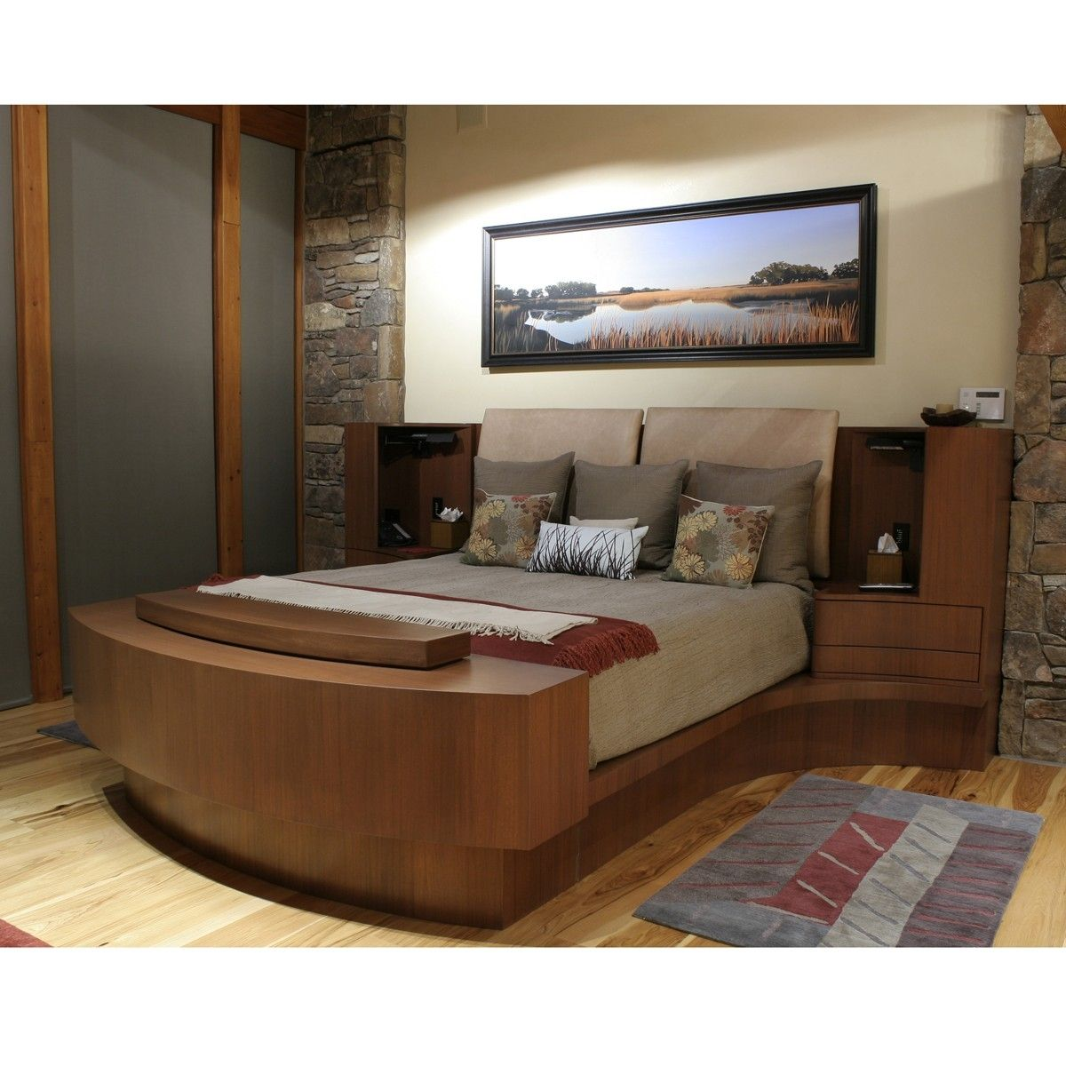 Custom made master bed by pagomo designs for Custom bedroom designs