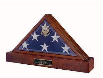 Custom Made Eternity Flag Case Urn, Flag And Urn Display Case