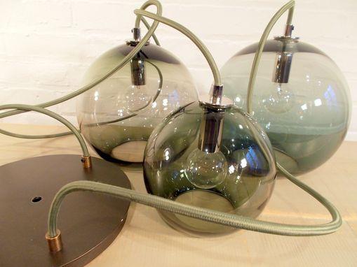 Custom 10 Inch Globe Hand Blown Glass Pendant Lighting By