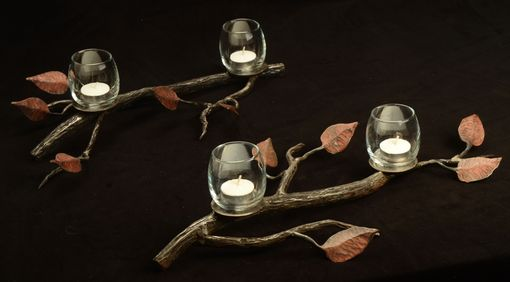 Custom Made Hand Forged Leaf Candelabra