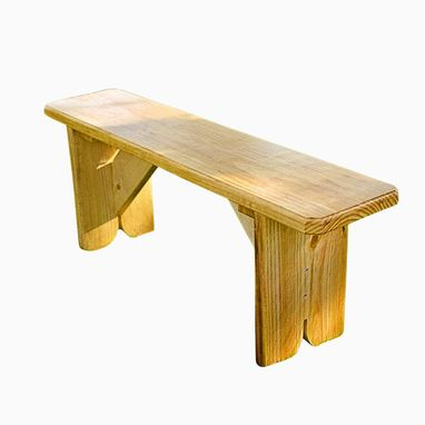Custom Made Southern Yellow Outdoor Pine Bench