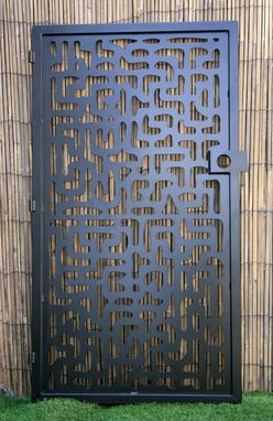 Custom Made Decorative Steel Gate - Metal Art Panel - Hieroglyph Steel Panel - Decorative Room Divider