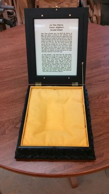 Custom Made Ornate Book Display With Framed Poem