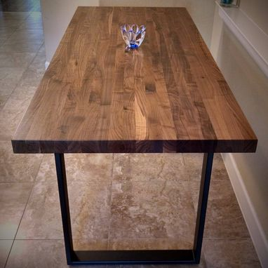 Custom Made Walnut Butcher Block Table Top