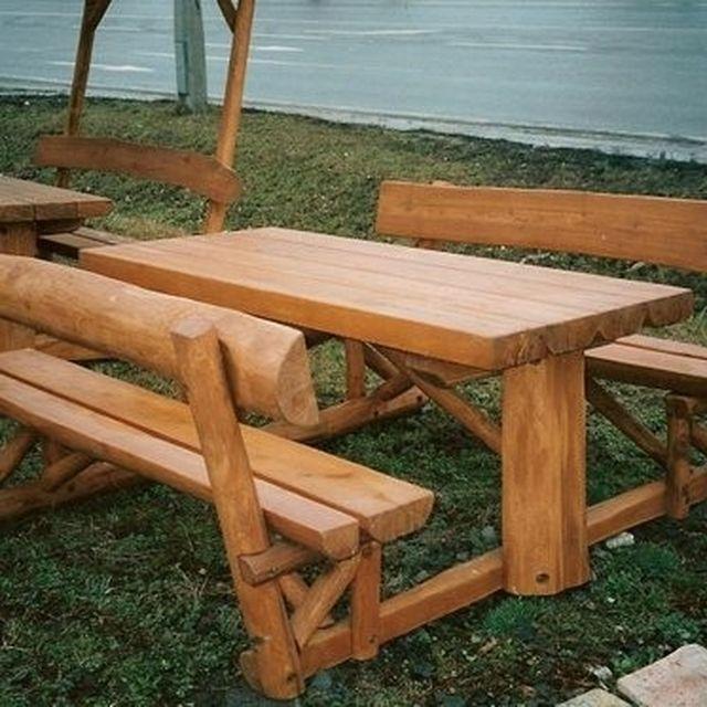 Custom Outdoor Furniture Picnic Tables CustomMadecom - Stone picnic table set