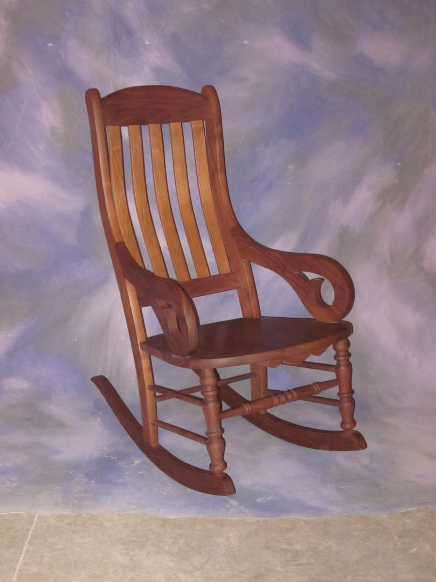 Hand Made Slat Back Rocking Chair By Schanz Furniture And