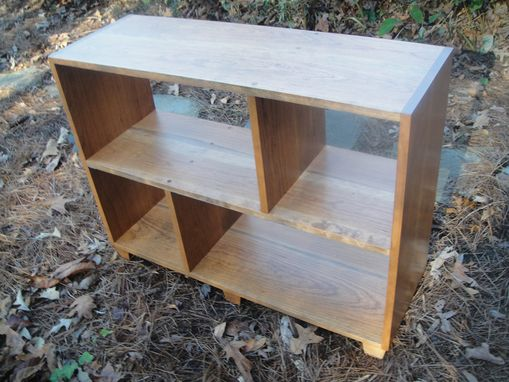Custom Made Mr2 Custom Solid Cherry Contemporary Bookcase With Tapered Feet